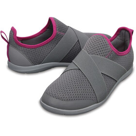 Crocs Swiftwater X-Strap Slippers Women Smoke/Light Grey